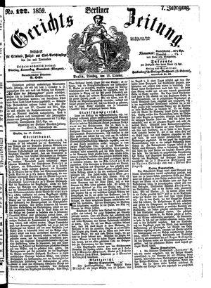 Berliner Gerichts-Zeitung vom 18.10.1859