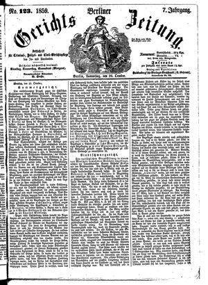 Berliner Gerichts-Zeitung vom 20.10.1859