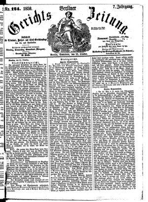 Berliner Gerichts-Zeitung vom 22.10.1859