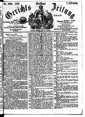 Berliner Gerichts-Zeitung vom 25.10.1859