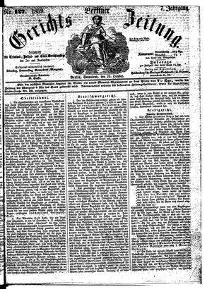 Berliner Gerichts-Zeitung vom 29.10.1859