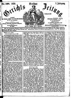 Berliner Gerichts-Zeitung vom 01.11.1859