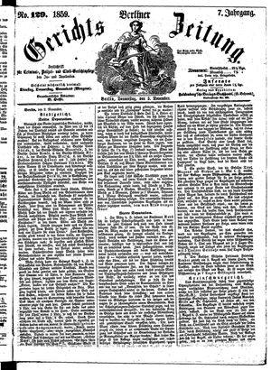 Berliner Gerichts-Zeitung vom 03.11.1859