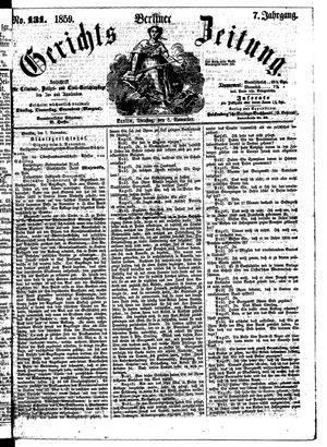 Berliner Gerichts-Zeitung vom 08.11.1859