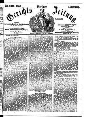 Berliner Gerichts-Zeitung vom 12.11.1859