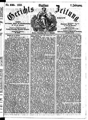 Berliner Gerichts-Zeitung vom 17.11.1859