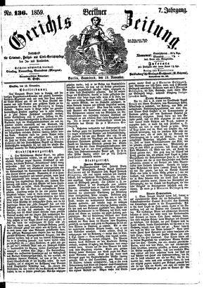 Berliner Gerichts-Zeitung vom 19.11.1859