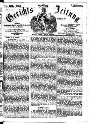 Berliner Gerichts-Zeitung vom 22.11.1859