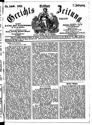 Berliner Gerichts-Zeitung vom 29.11.1859