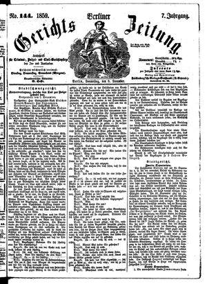 Berliner Gerichts-Zeitung vom 08.12.1859