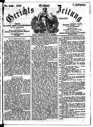 Berliner Gerichts-Zeitung vom 10.12.1859