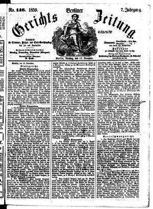 Berliner Gerichts-Zeitung vom 13.12.1859