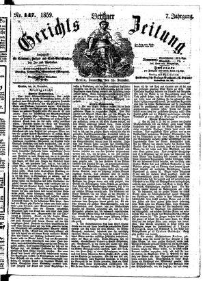 Berliner Gerichts-Zeitung on Dec 15, 1859