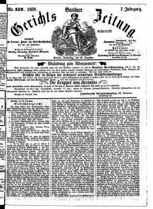 Berliner Gerichts-Zeitung vom 29.12.1859