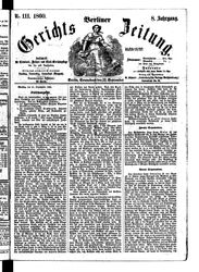Berliner Gerichts-Zeitung (22.09.1860)