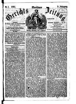Berliner Gerichts-Zeitung vom 01.01.1861