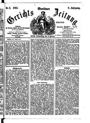 Berliner Gerichts-Zeitung vom 03.01.1861