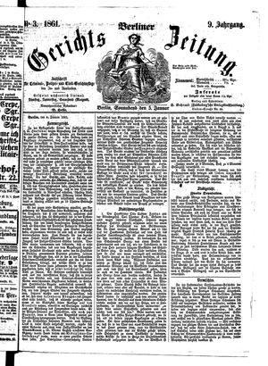 Berliner Gerichts-Zeitung vom 05.01.1861