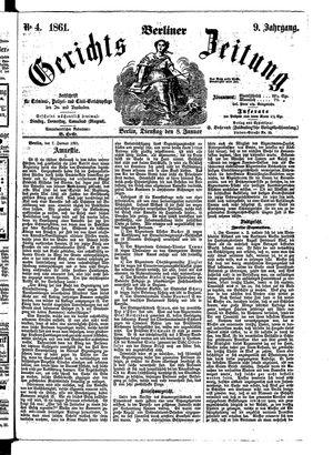 Berliner Gerichts-Zeitung vom 08.01.1861