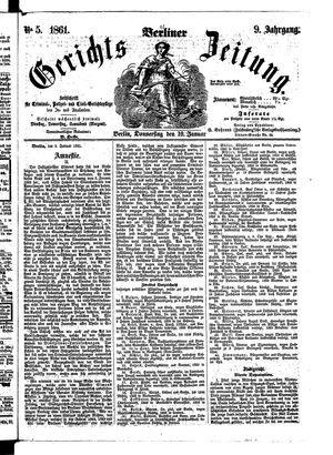 Berliner Gerichts-Zeitung vom 10.01.1861