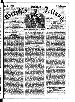 Berliner Gerichts-Zeitung vom 12.01.1861