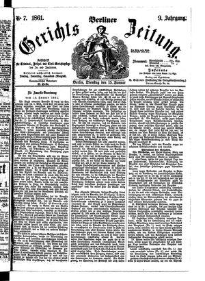 Berliner Gerichts-Zeitung vom 15.01.1861