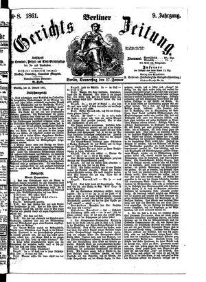 Berliner Gerichts-Zeitung vom 17.01.1861