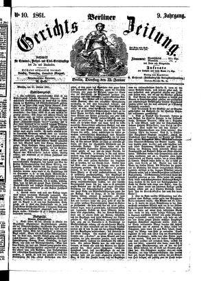 Berliner Gerichts-Zeitung vom 22.01.1861