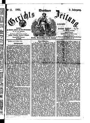 Berliner Gerichts-Zeitung vom 24.01.1861