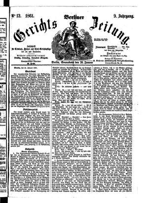 Berliner Gerichts-Zeitung on Jan 26, 1861