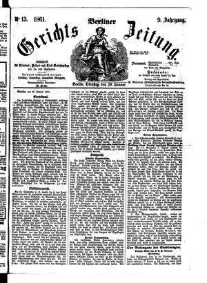 Berliner Gerichts-Zeitung on Jan 29, 1861