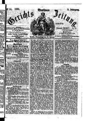 Berliner Gerichts-Zeitung on Jan 31, 1861