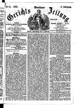 Berliner Gerichts-Zeitung vom 02.02.1861