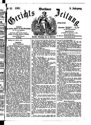Berliner Gerichts-Zeitung on Feb 5, 1861