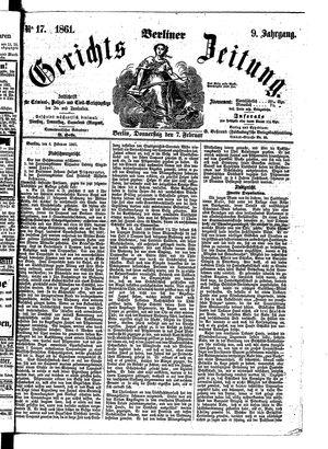 Berliner Gerichts-Zeitung vom 07.02.1861