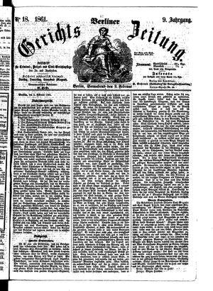 Berliner Gerichts-Zeitung on Feb 9, 1861