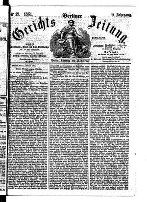 Berliner Gerichts-Zeitung on Feb 12, 1861