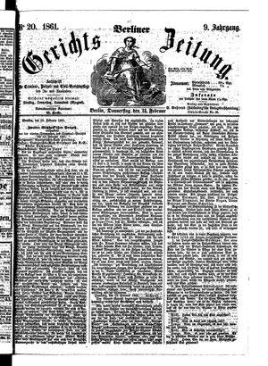 Berliner Gerichts-Zeitung vom 14.02.1861