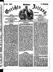 Berliner Gerichts-Zeitung (21.10.1861)