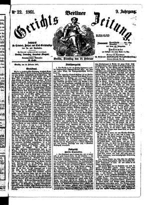 Berliner Gerichts-Zeitung vom 19.02.1861