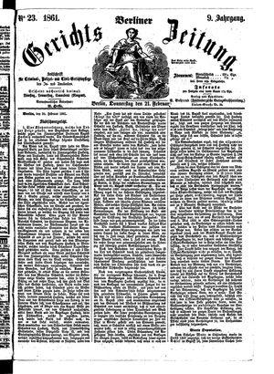 Berliner Gerichts-Zeitung vom 21.02.1861
