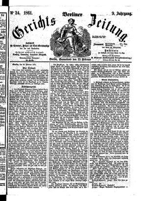 Berliner Gerichts-Zeitung on Feb 23, 1861