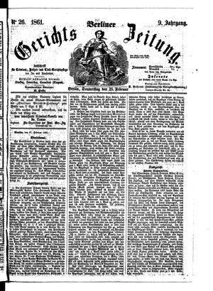 Berliner Gerichts-Zeitung vom 28.02.1861