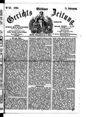 Berliner Gerichts-Zeitung on Mar 2, 1861