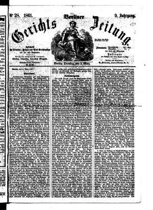 Berliner Gerichts-Zeitung vom 05.03.1861