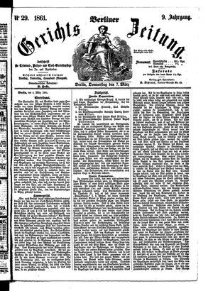 Berliner Gerichts-Zeitung vom 07.03.1861