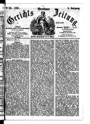 Berliner Gerichts-Zeitung vom 09.03.1861