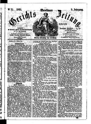 Berliner Gerichts-Zeitung vom 12.03.1861