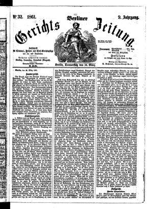 Berliner Gerichts-Zeitung vom 14.03.1861