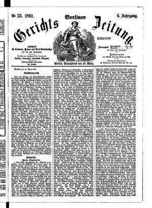Berliner Gerichts-Zeitung vom 16.03.1861